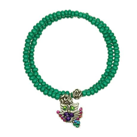 Beaded Owl Bangle Bracelets