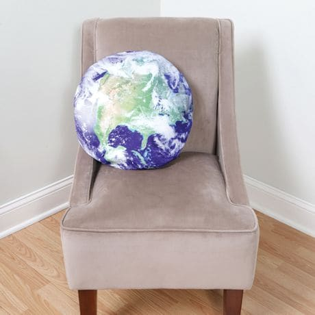 Earth & Moon 18in. Round Throw Pillow Covers - Sold Separately