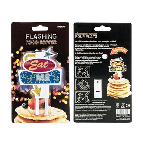 Flashing Led Food Toppers - Eat Me