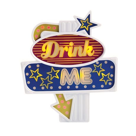 Flashing Led Food Toppers - Drink Me