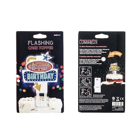 Flashing Led Food Toppers - Birthday