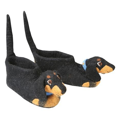 Wool & Felt Pet Slippers - Dachshund