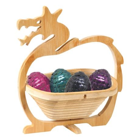 Collapsible Folding Dragon Shaped Bamboo Fruit Bowl