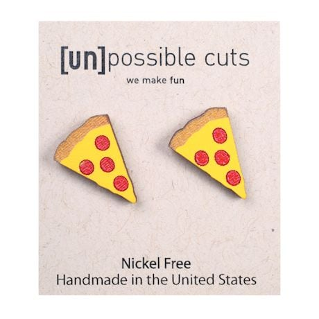 Wood Cut Food-Fun Earrings