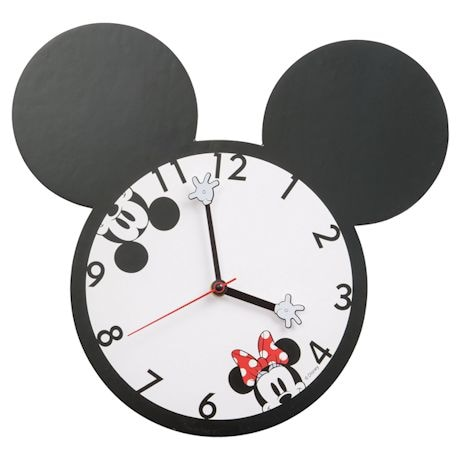 Mickey & Minnie Shaped Deco Wall Clock