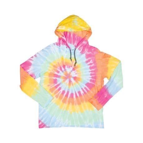 Lightweight Tie-Dye Hooded T-Shirts