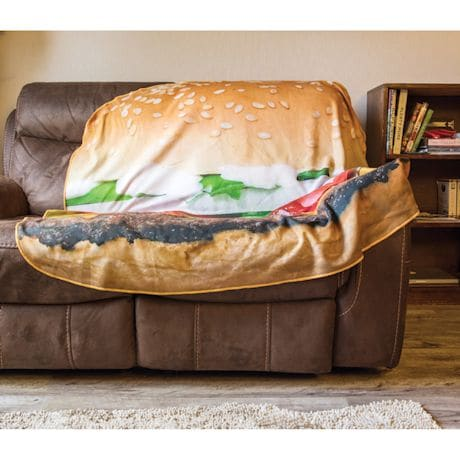 Plush Food Blankets - Burger
