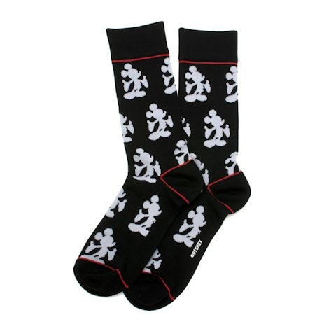 Illustrated Mickey Mouse crew socks