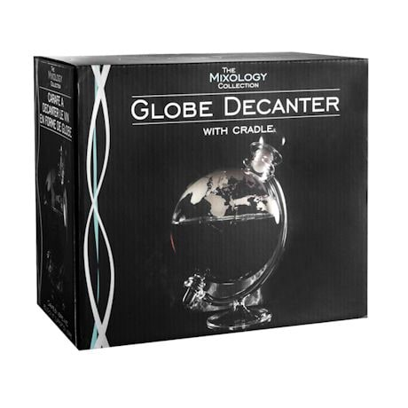 Aerating Rotating Globe Glass Wine Decanter