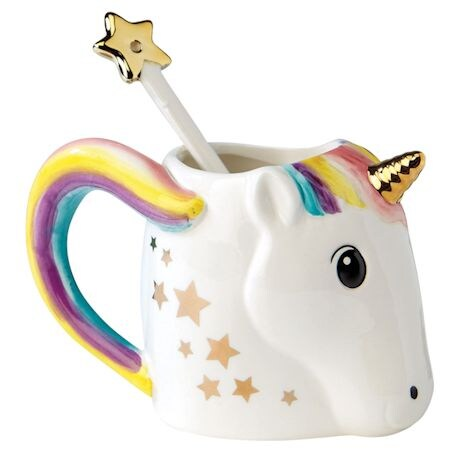 Unicorn Ceramic Mug With Stir Wand