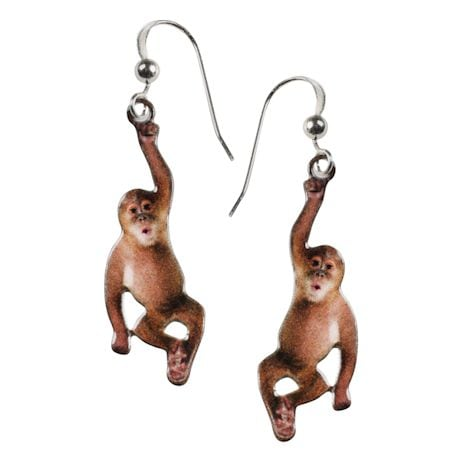 Hanging Monkey Earrings