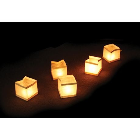 Set of 10 Fleating Water Lanterns with Tea Light Candles
