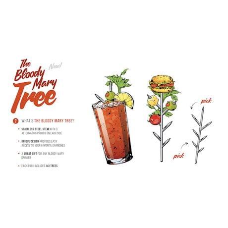 Bloody Mary Cocktail Garnish Tree - Pack of 4