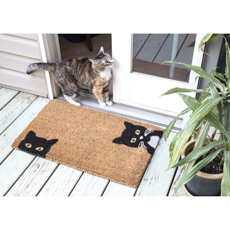 Peeping Cats Doormat