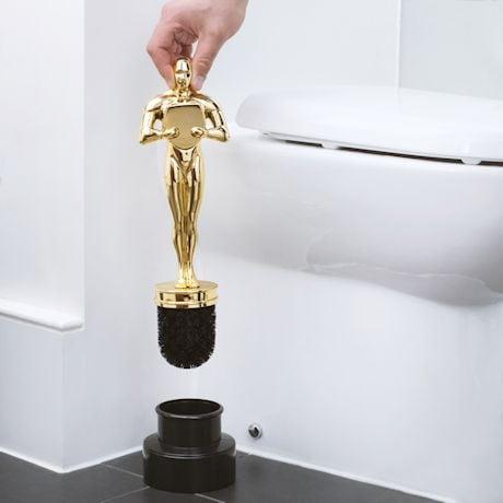 Golden Statuette Toilet Brush