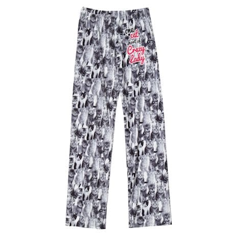 One Cat Short Pajama Pants