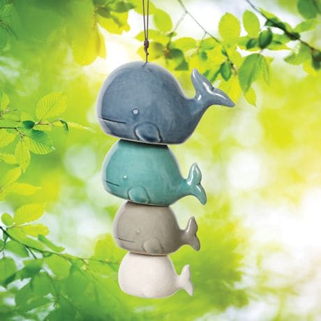 Ceramic Whale Wind Chimes