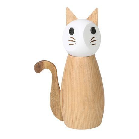 Wooden House Cat Salt or Pepper Mill & Spice Grinder