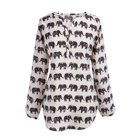 Long-Sleeve Elephant Top