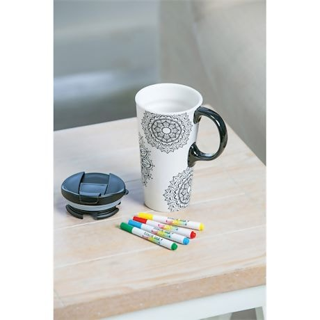 Color Your Own Mandala Mug