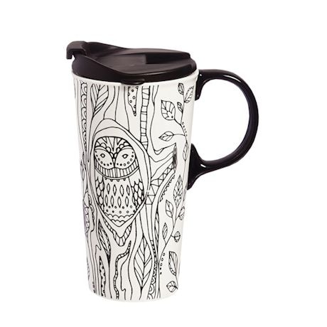Color Your Owl Mug