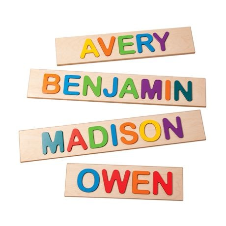Personalized Children's Wooden Name Puzzles