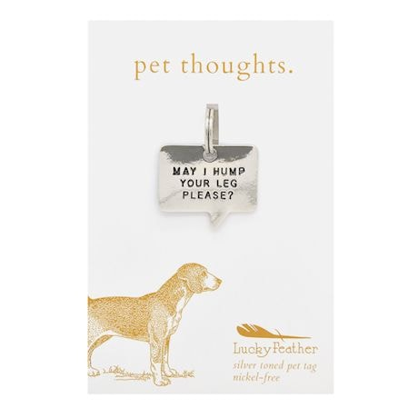Non-Engraved Pet Thoughts Pet Tags