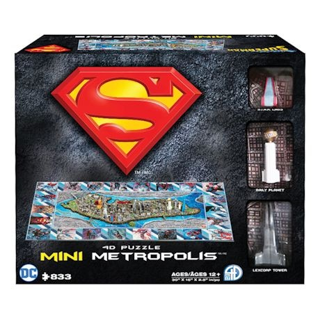 Superman/Metropolis City 4D Superhero Puzzles
