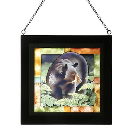"""Bear And Deer """"Stained"""" Glass Art"""