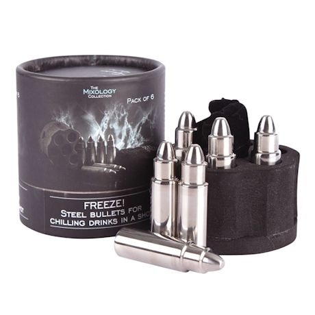 Bullet Ice Cube with 6 Cylinder Holder
