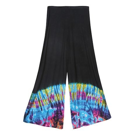 Tie-Dye Wide-Leg Pants