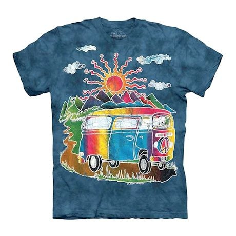 Hippie Retro Peace Sign Bus T-shirt