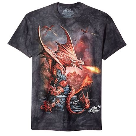 Fire Breathing Red Dragon T-shirt