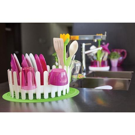 Flower Power Dish & Cutlery Drainer Set