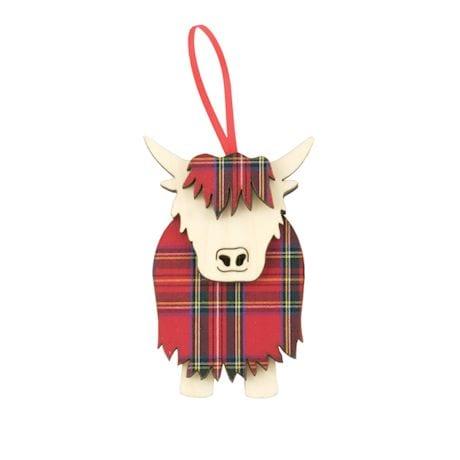 Royal Stewart Hamish Highland Cow Ornament