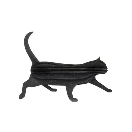 Black Wood Cat Puzzle