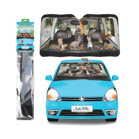 Car Full of Squirrels Auto Windshield Sun Shade