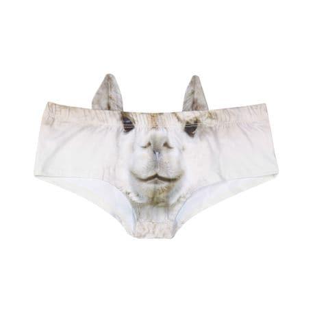 Women's 3D Animal Face Undies: Underwear with Ears