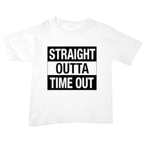 Straight Outta Time Out Toddler Tee