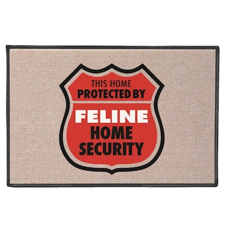 Home Protected By Feline Doormat