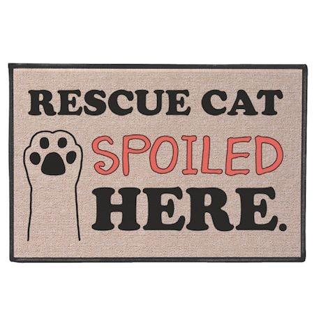 Rescued Cat Spoiled Here Doormat