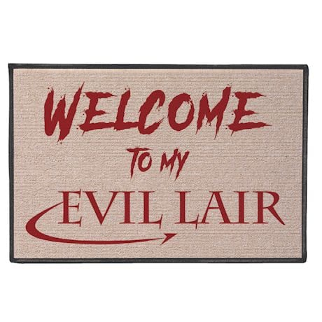 Welcome To My Evil Lair Doormat