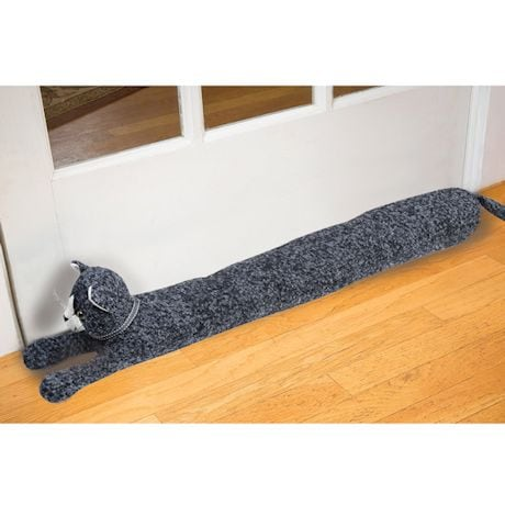 "33"" Decorative Cat Door Draft Stopper Guard - Block Under Door Drafts"