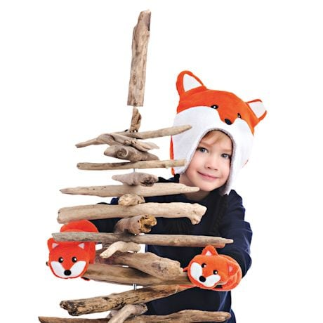 Reversible Kids Animal Winter Hats - 2 Hats in 1
