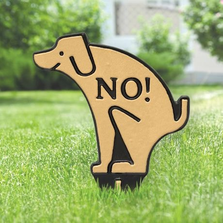 No Poop Dog Sign