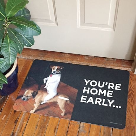 You're Home Early Doormat