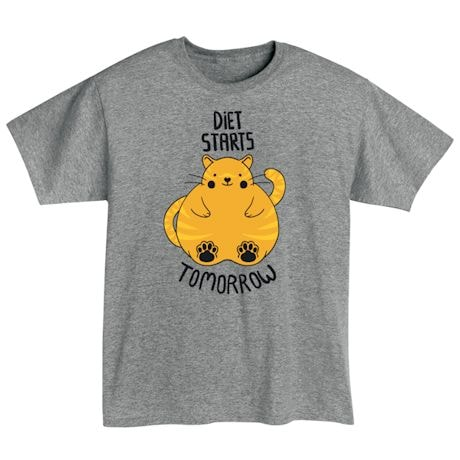Diet Starts Tomorrow T-Shirts