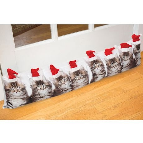 Santa Cat Draft Stopper/Pillow