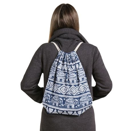Elephant-Print Backpack