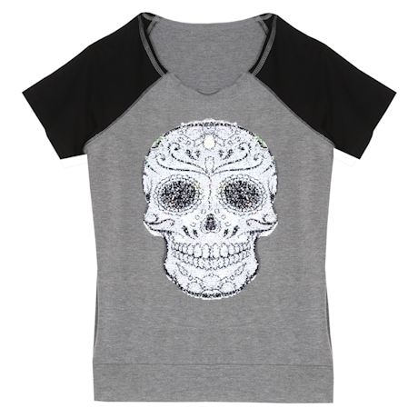 Flip-Sequin Skull Top